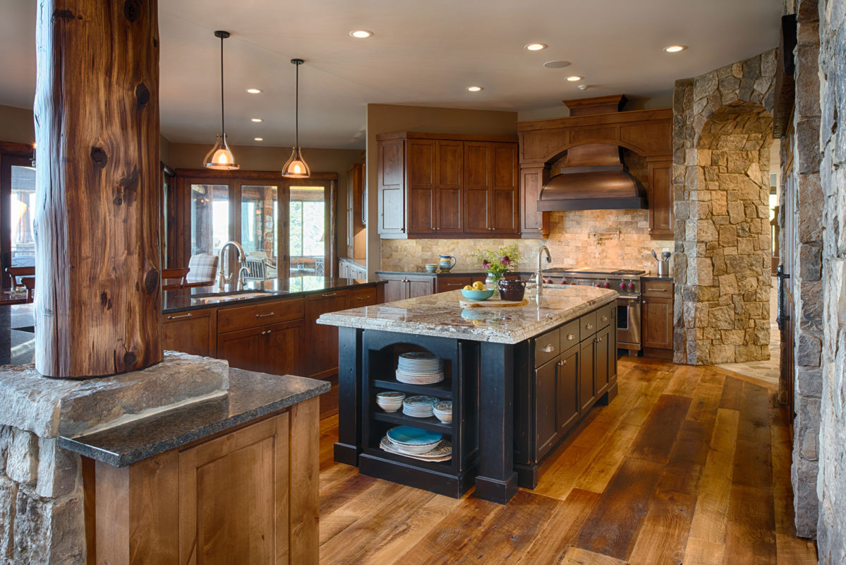 rustic black kitchen cabinets pine with painted island crystal