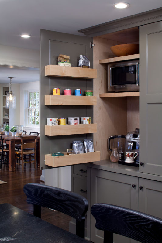 Two Tone Painted Shaker Kitchen  Crystal Cabinets