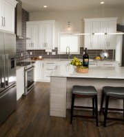 Midwest Modern Kitchen   Crystal Cabinets
