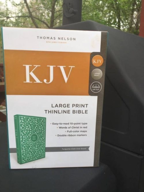 Thomas Nelson Large Print Thinline Bible Turquoise