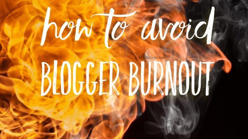 Avoiding Blogger Burnout
