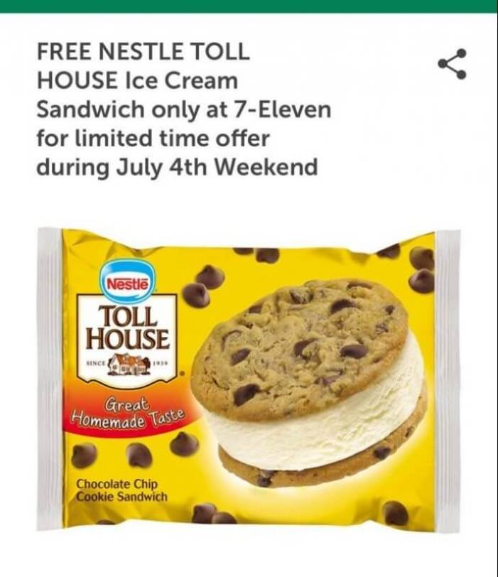 7-Eleven 4th of July Deal Nestle Toll House Ice Cream