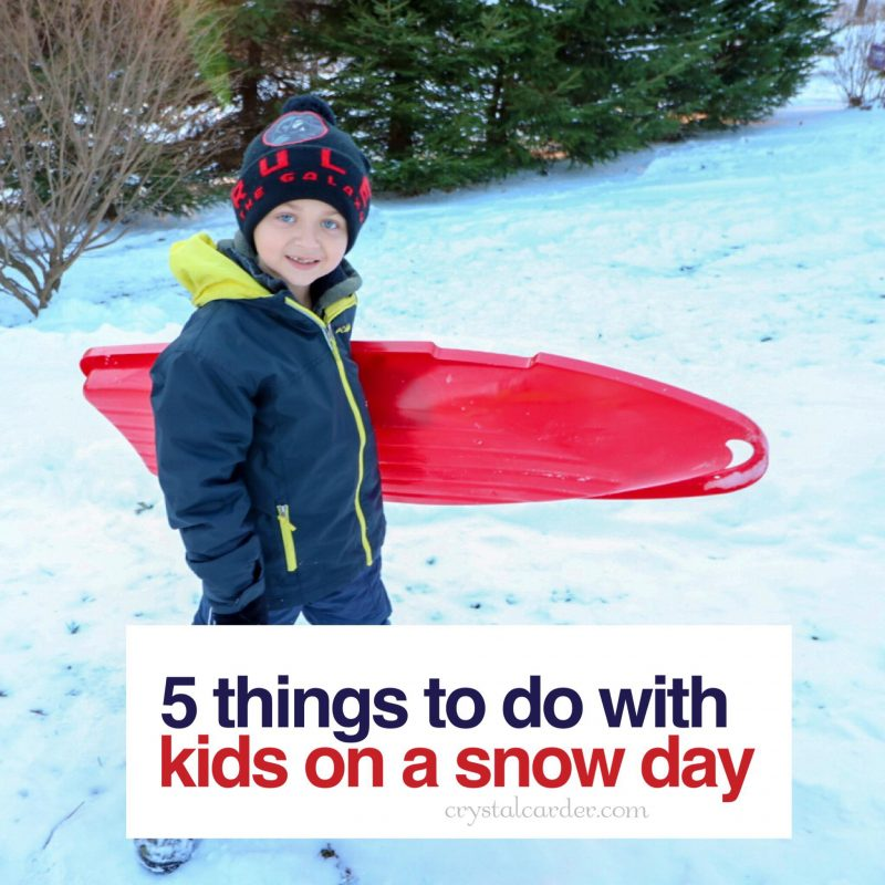 5 Things to Do With Kids On a Snow Day