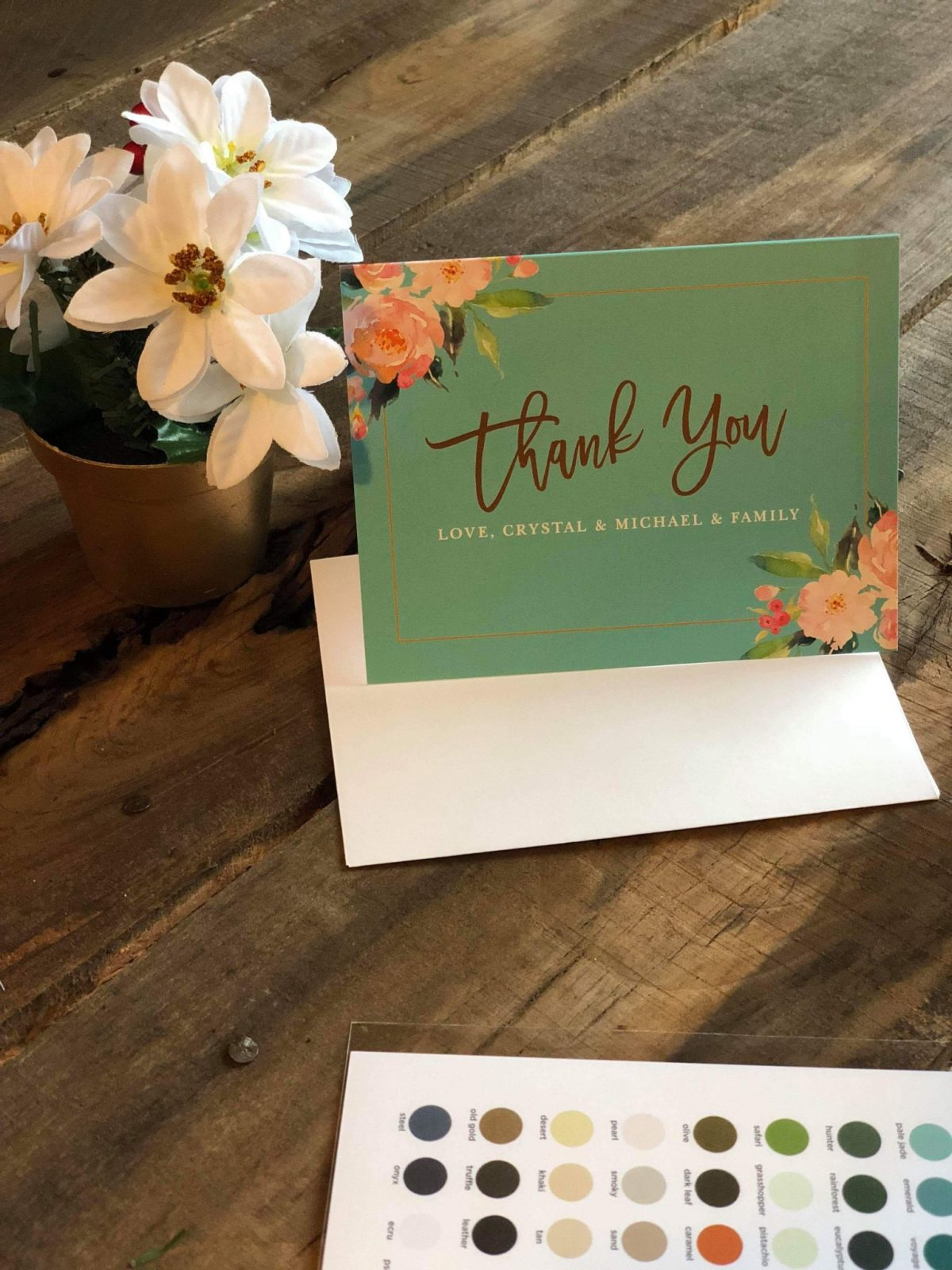 Thank You Notes with Basic Invite Custom Made Cards