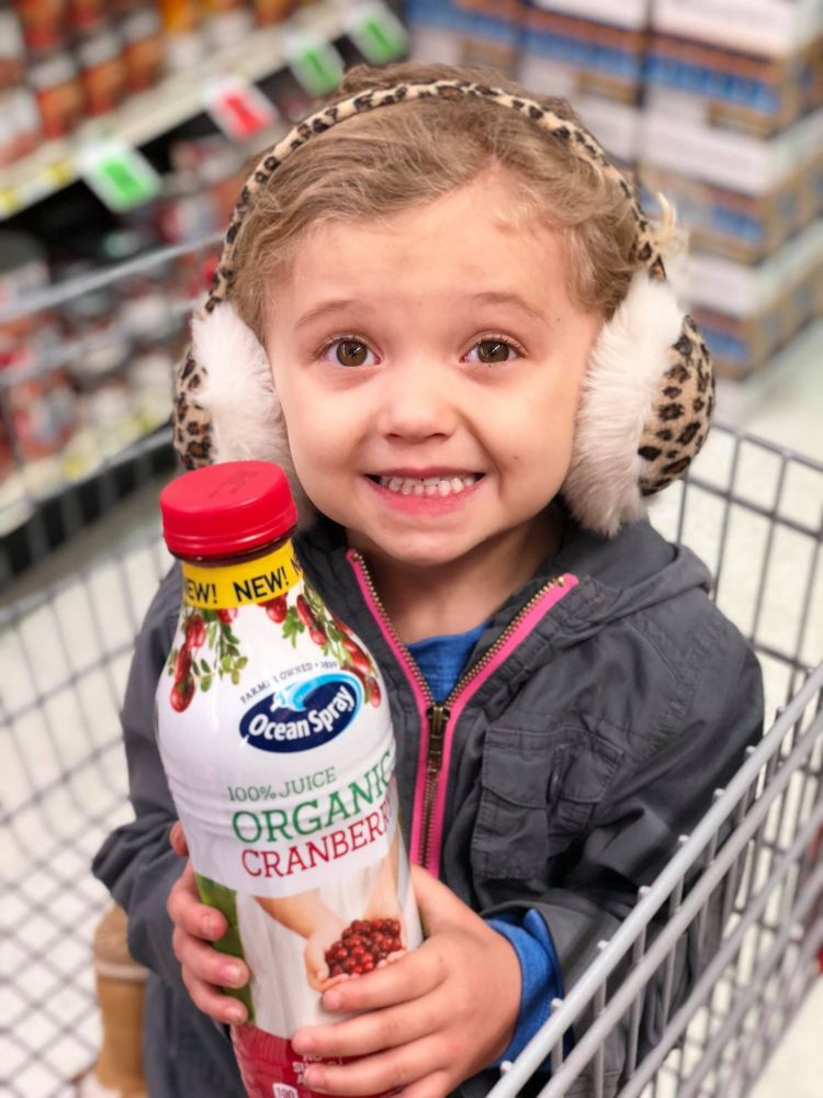 Oceanspray Organic 100% Juice Teach Children to Make Better Food Choices ad