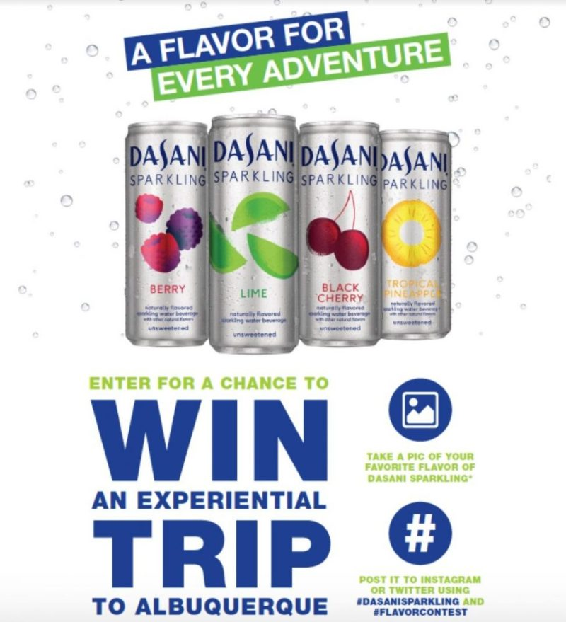 DASANI Sparkling adventure sweepstakes: Win a Trip
