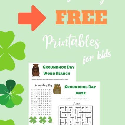 Groundhog Day activities for kids printable