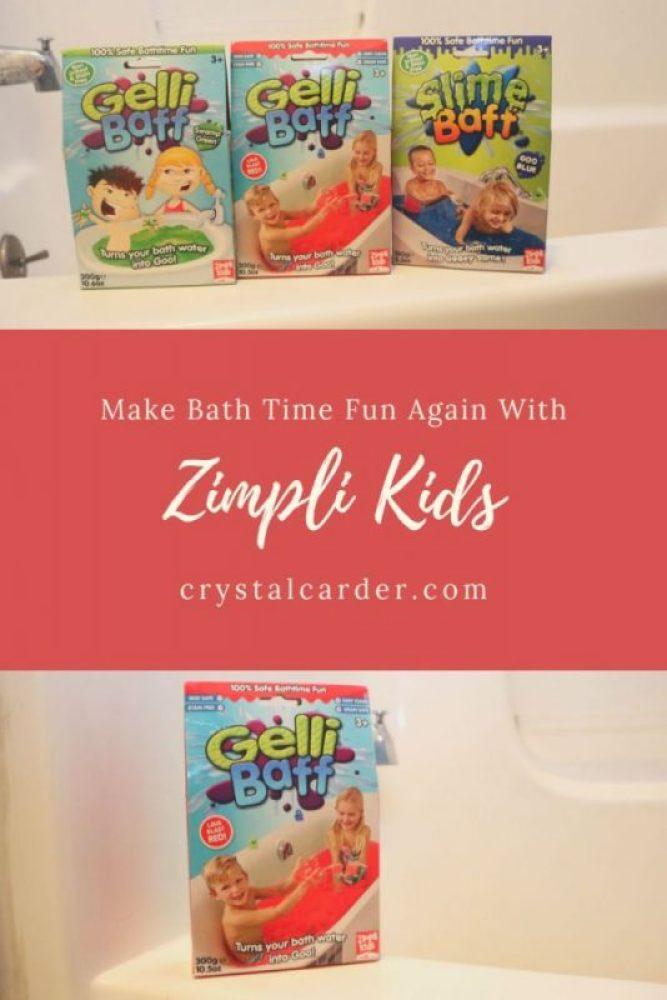 Zimpli Kids bath time products Gelli Baff slime baff