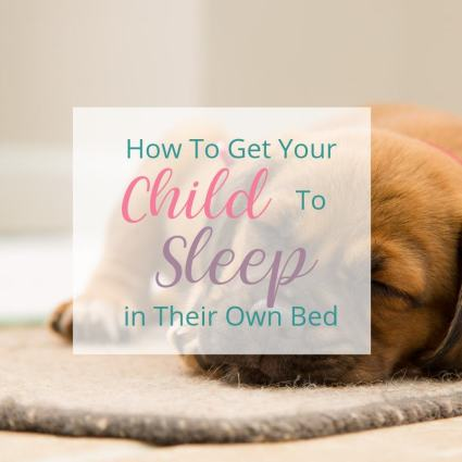 Getting Kids to Sleep in Their Own Bed