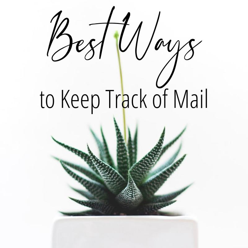 best ways to keep track of mail