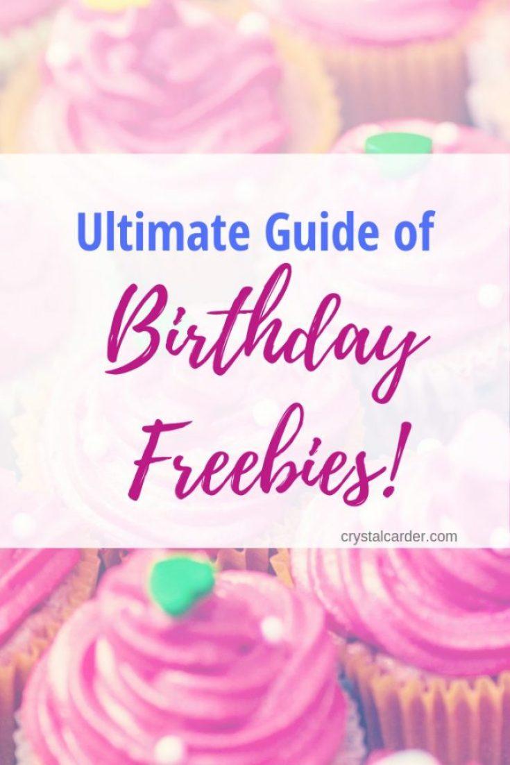Ultimate Guide birthday freebies