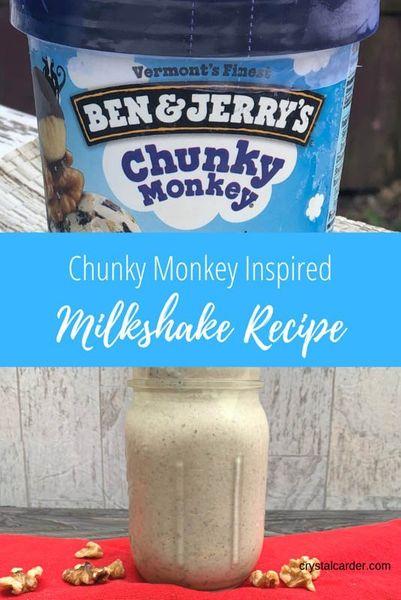 Chunky Monkey Inspired Milkshake Recipe 82