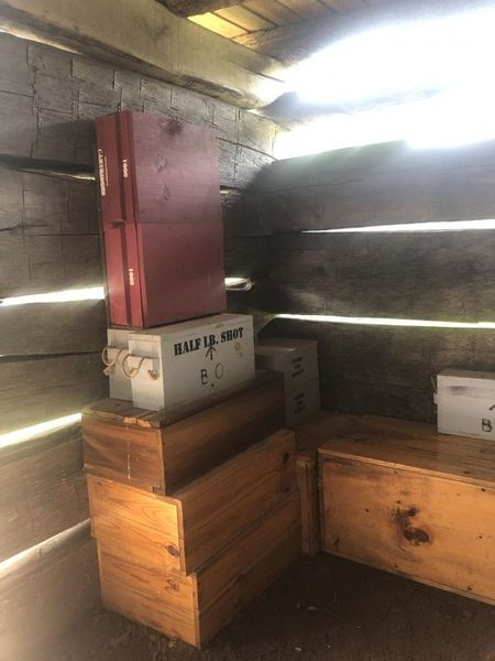 Inside Fort Necessity ammo and necessities