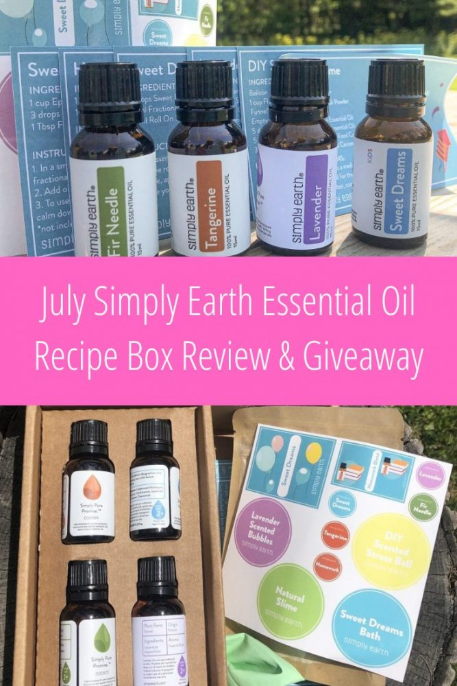 July Simply Earth Essential Oil Recipe Box Review and Giveaway ad