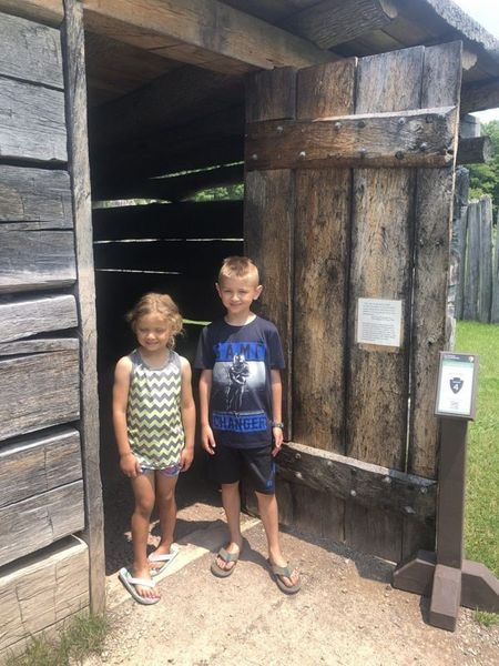 walking inside the fort necessity