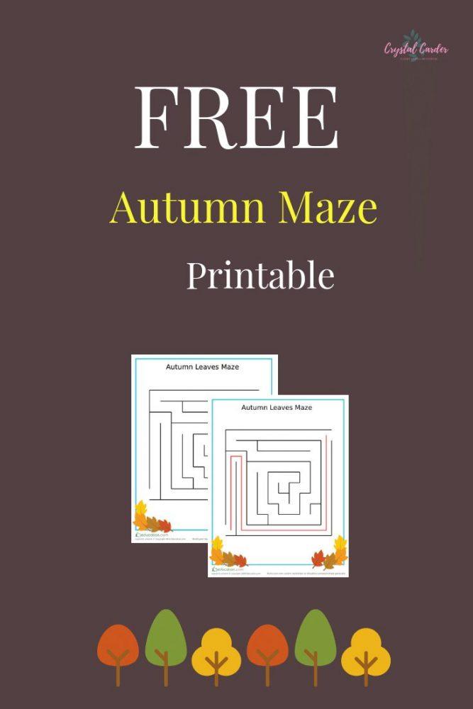 free autumn maze printable