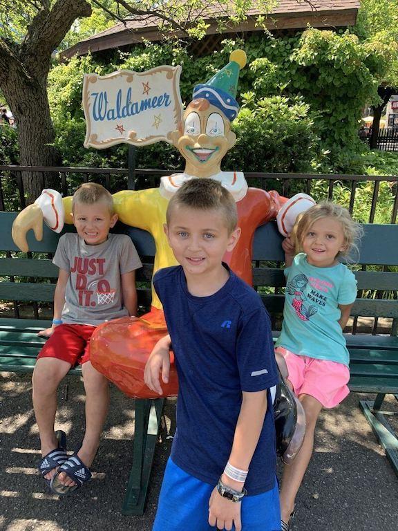 Kids at Waldameer in Erie