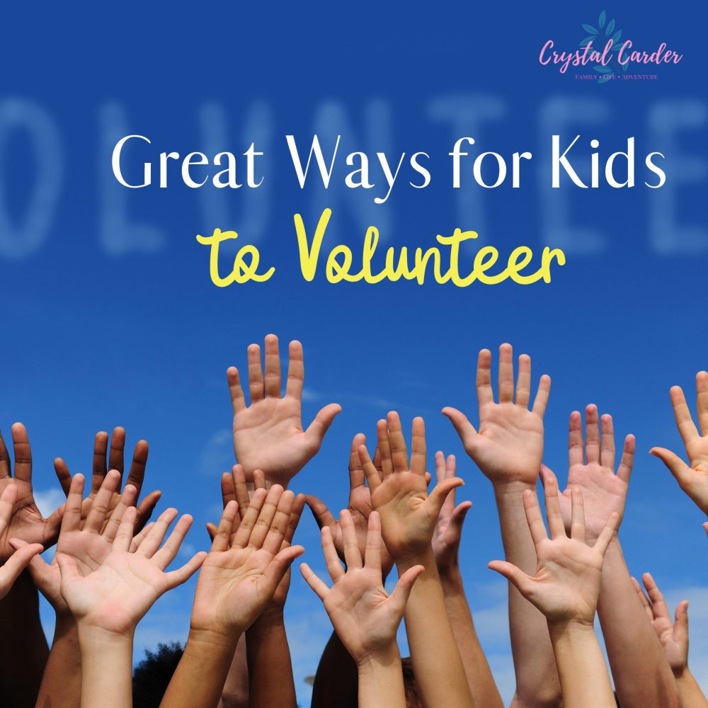 Great Ways for kids to volunteer