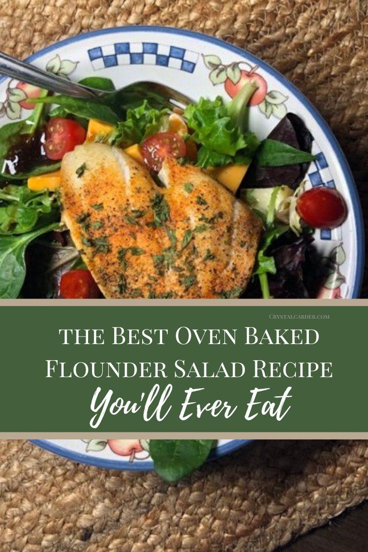 The Best Baked Flounder Salad recipe