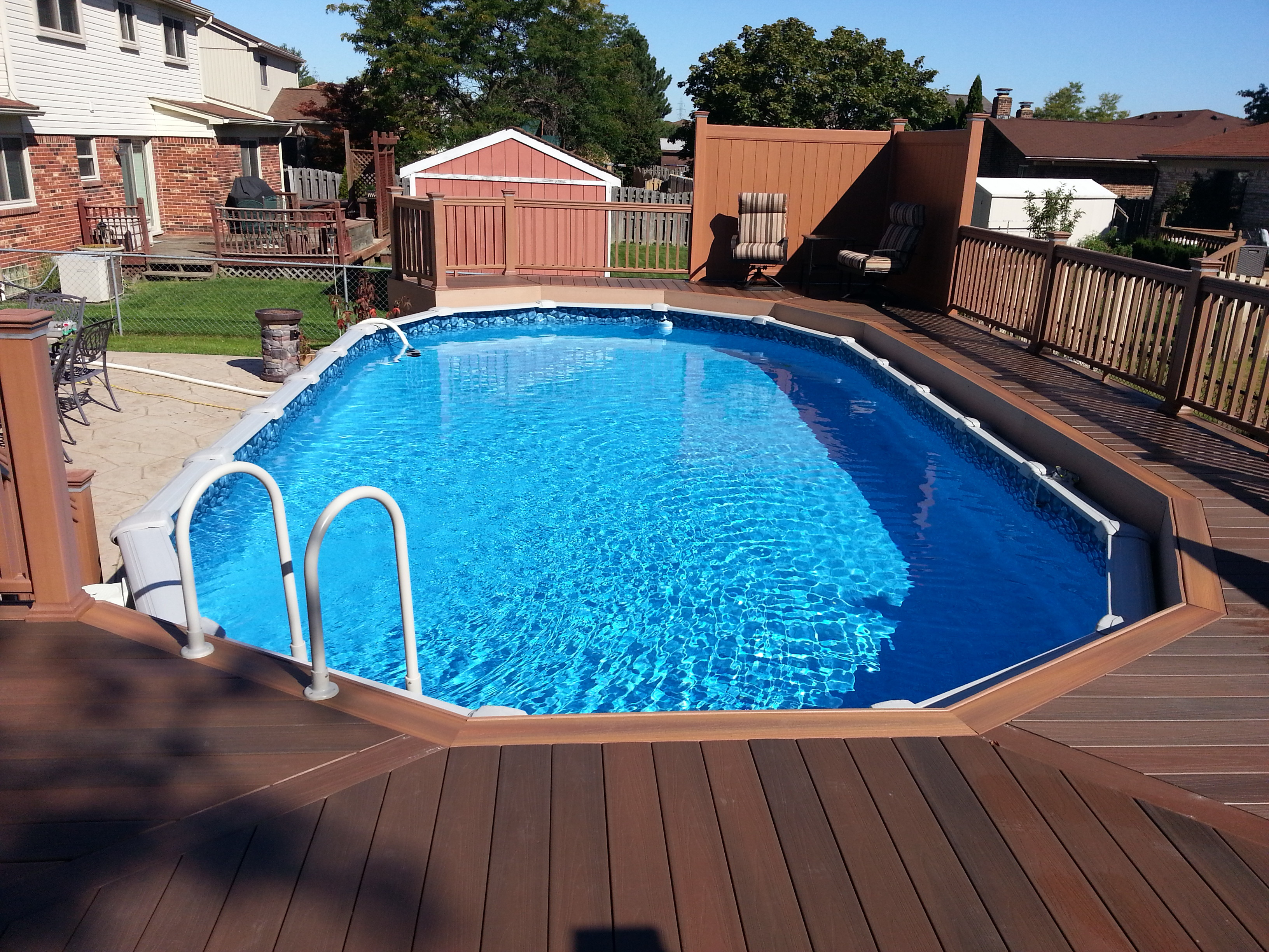24 Above Ground Pool Deck