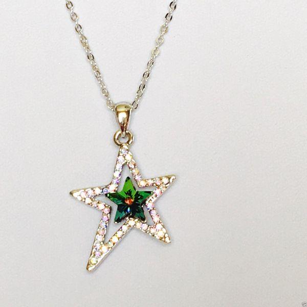 Swarovski Elements Star Necklace Crystal Elegance