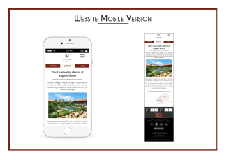 Victoria Angkor Resort & Spa - Site Internet version mobile