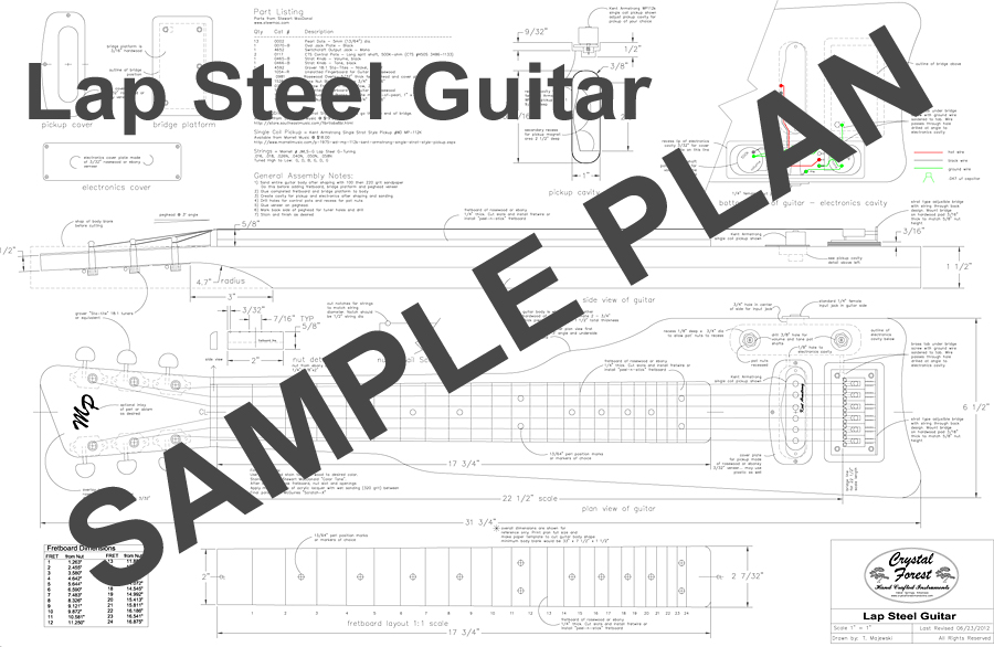 Electric Guitar Plans And Templates