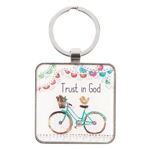 Trust In God (Metal Keyring)