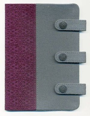 NKJV Compact Ultraslim Grey & Plum Fabric