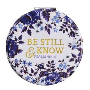 Be Still & Know (Faux Leather Compact Mirror)