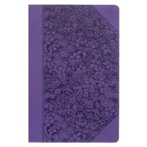 KJV Giant Print Standard Purple Red Letters (Faux Leather)