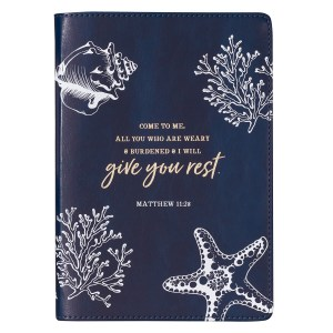 Come To Me All Who Are Weary (Slimline Faux Leather Journal)