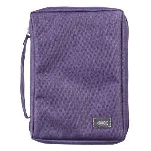 Medium Bible Bag With Fish Badge (Purple)