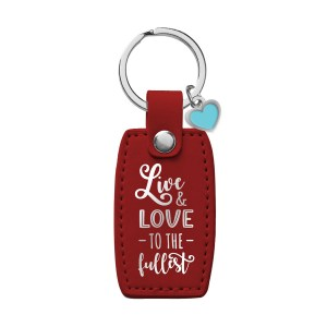 Live And Love To The Fullest (LuxLeather Keyring)