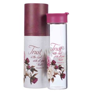 Trust In The Lord Plum (Glass Water Bottle)
