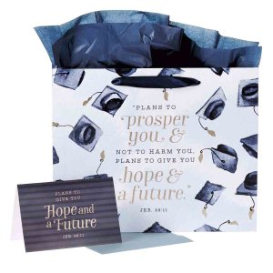 Hope & A Future For Graduates Blue (Large Gift Bag With Card)