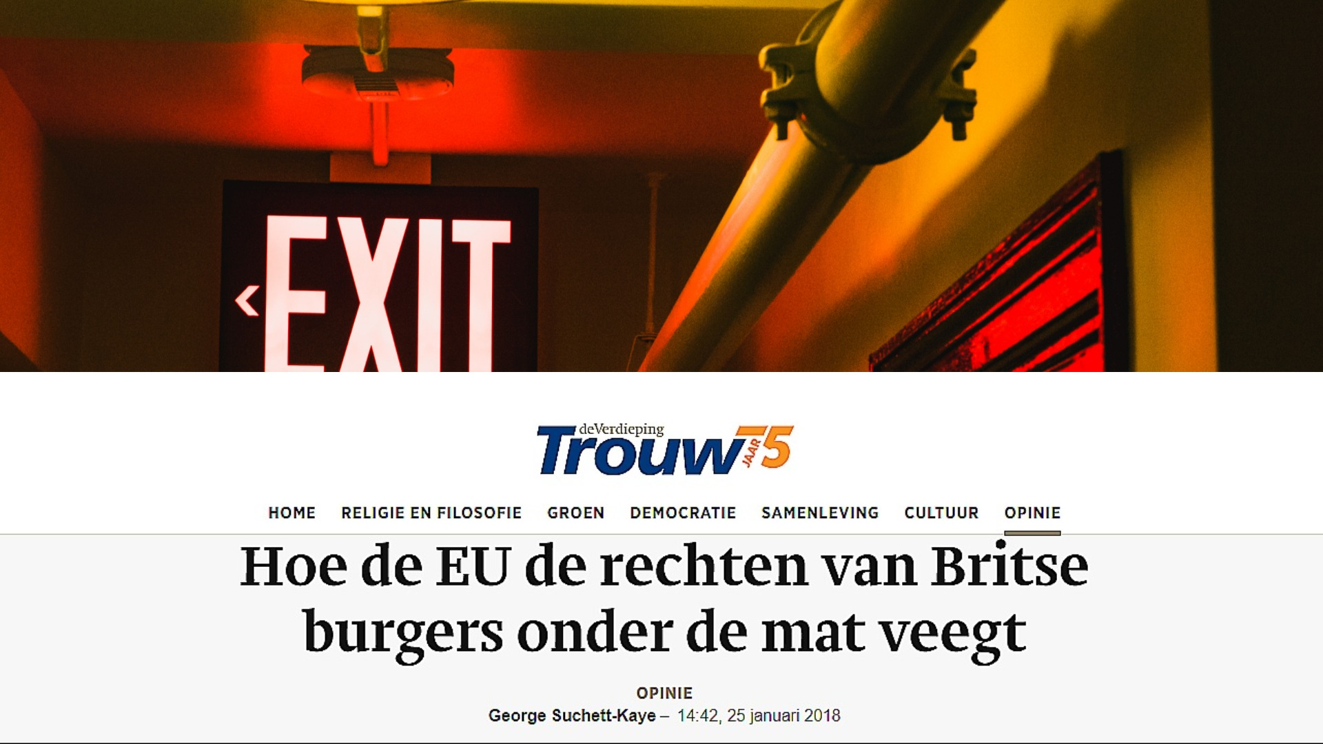 Britse Burgers Na Brexit