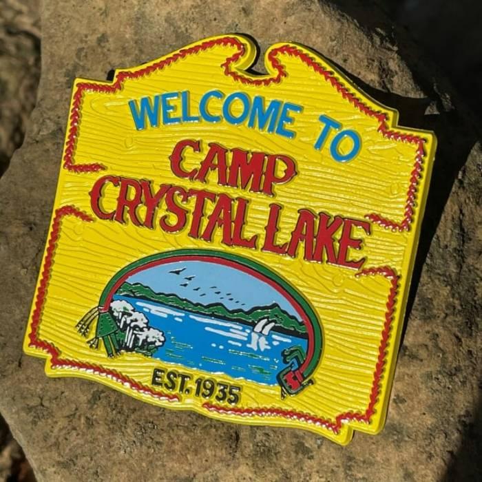 Camp Crystal Lake Sign Magnet
