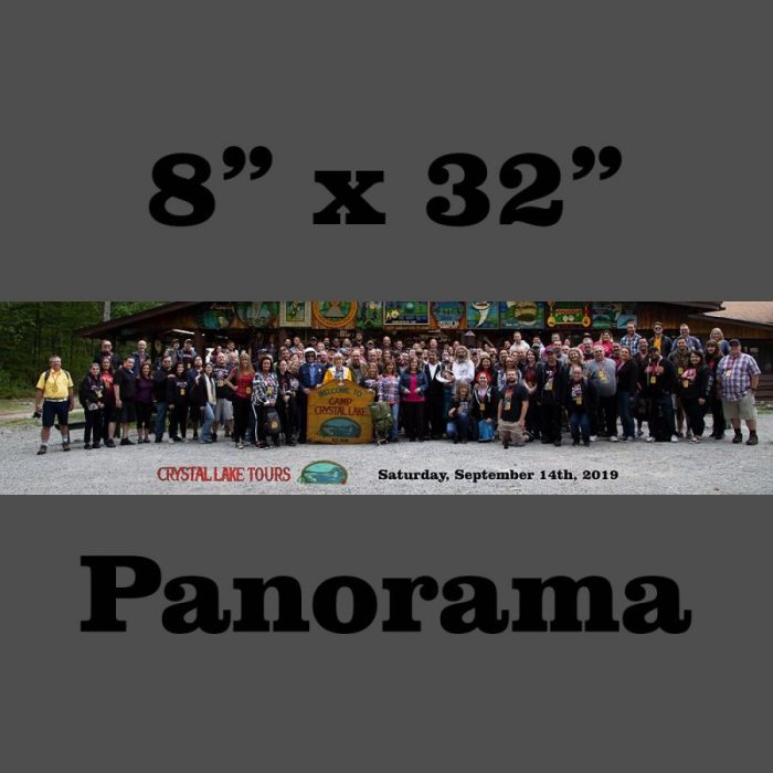 "September 2019 Saturday RED Group 8"" x 32"" Panorama"
