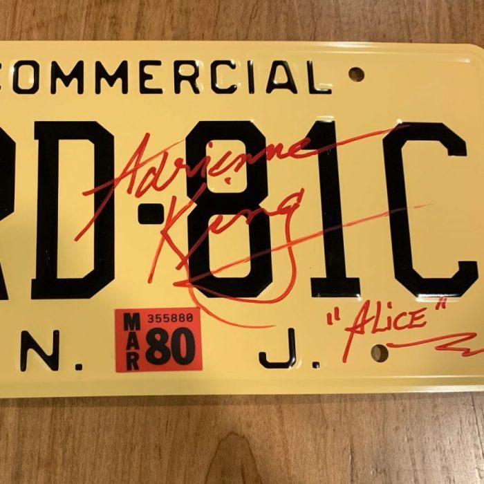 SIGNED XRD-81C Souvenir License Plate