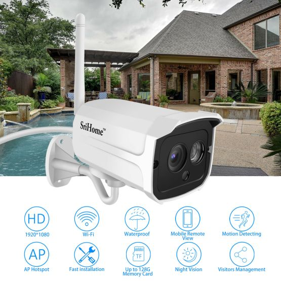 Waterproof WiFi Smart Security Camera