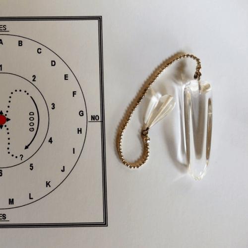 Large Quartz Crystal Pendulum