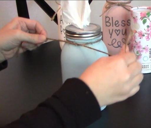 How to make a DIY Mason Jar Tissue Holder
