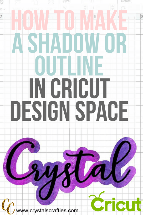 How to add shadow to letters or make a text outline in Cricut Design Space