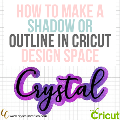 How to add shadow to letters in Cricut Design Space