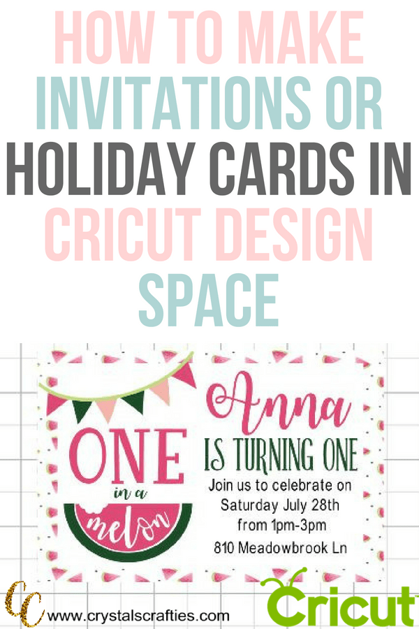 How to make birthday invitations in design space how to make birthday invitations and holiday cards in cricut design space filmwisefo