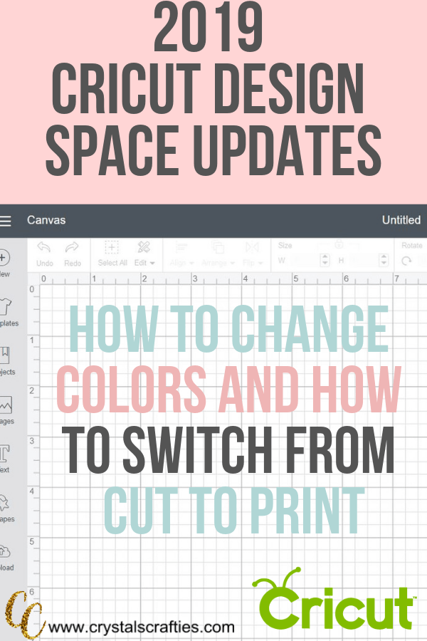 How to switch from cut to print in cricut design space