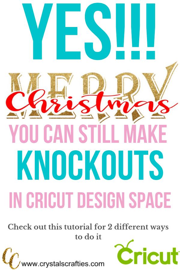 knockouts in cricut design space