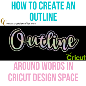 How to create an outline in Cricut Design Space