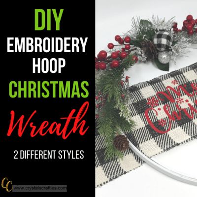 DIY Embroidery Hoop Christmas Wreath